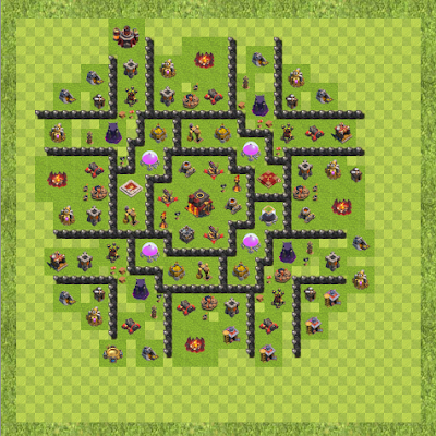 War Base Town Hall Level 10 By Elgoog(Anti Hog TH 10 Layout)