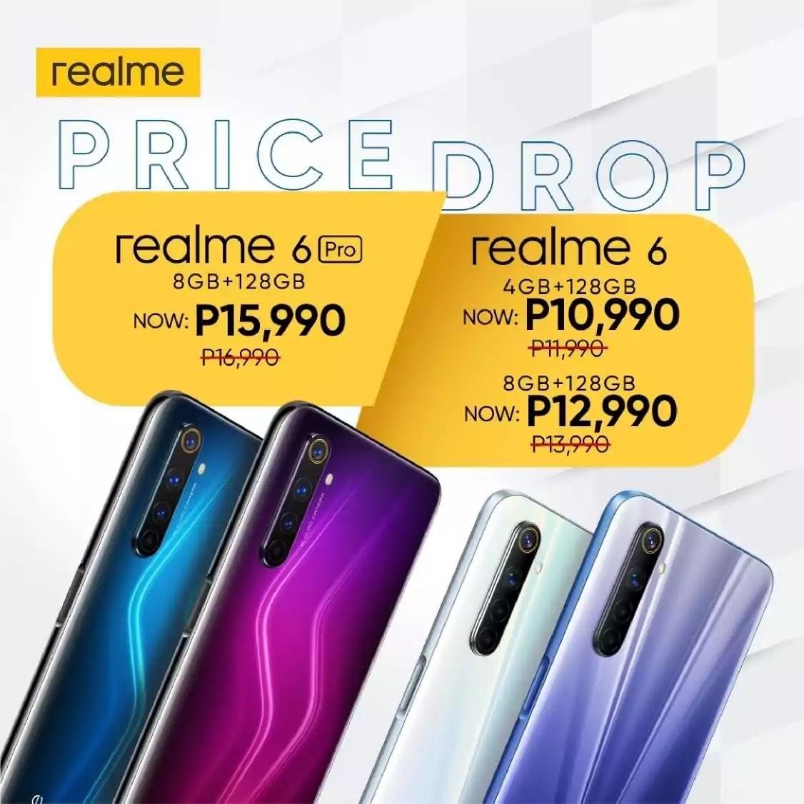 realme 6 and 6 Pro Price Drop