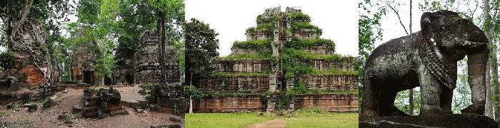 Prasat Pram - Koh Ker - Prasat Samrei (élélpahnt)