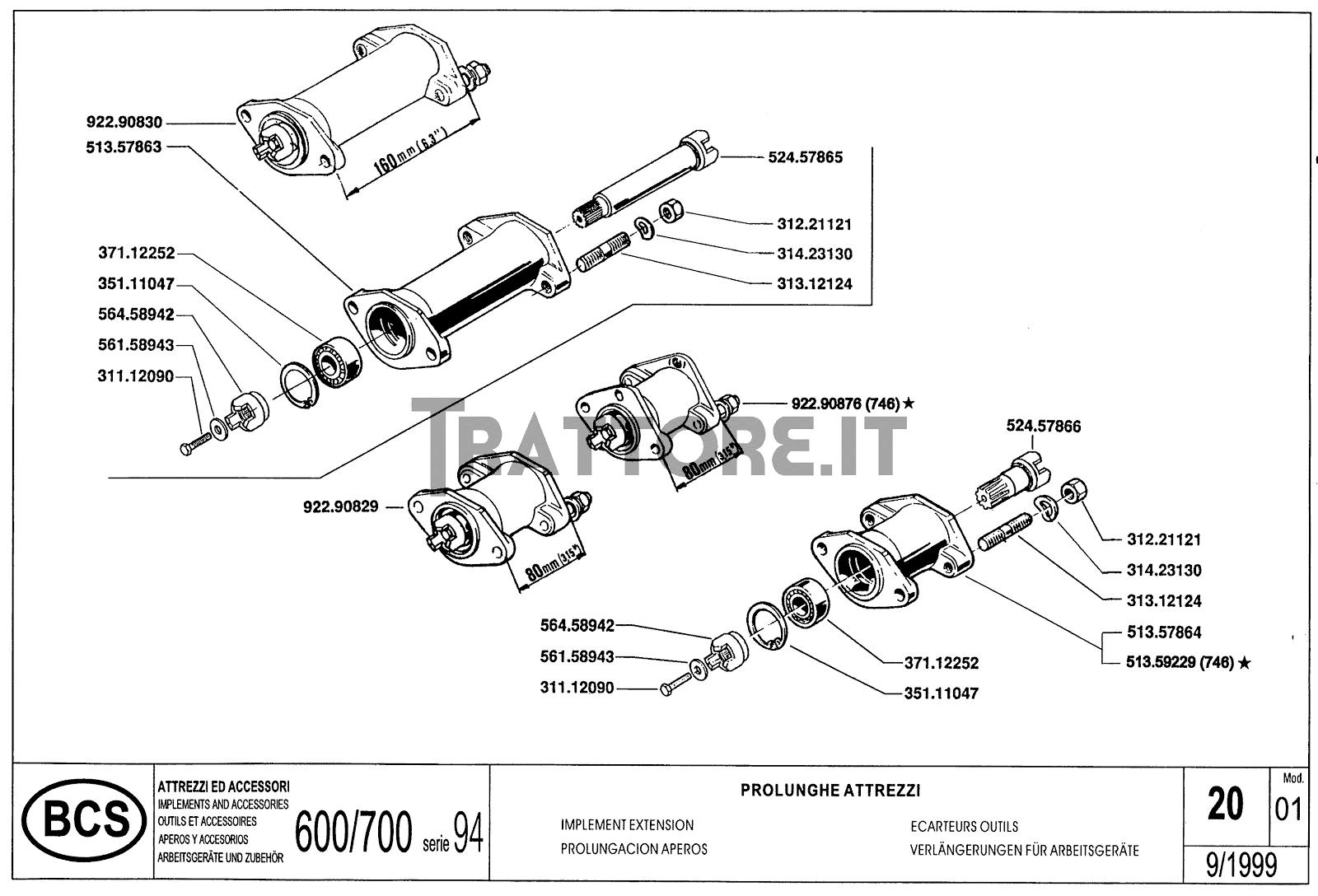 InfoTrattore.it: Manuale (esploso meccanico) serie BCS 600