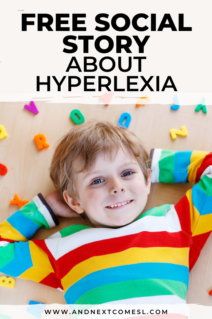Free printable social story for hyperlexic kids to learn about hyperlexia