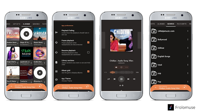 Android music player app for free download