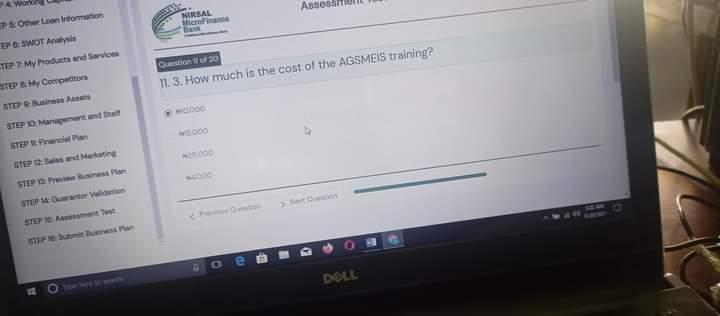 CBN/NIRSAL AGSMEIS: Duba Wasu Daga Cikin Assessment Test Na Tallafin CBN/NIRSAL AGSMEIS Da Muka Amsa A Yau