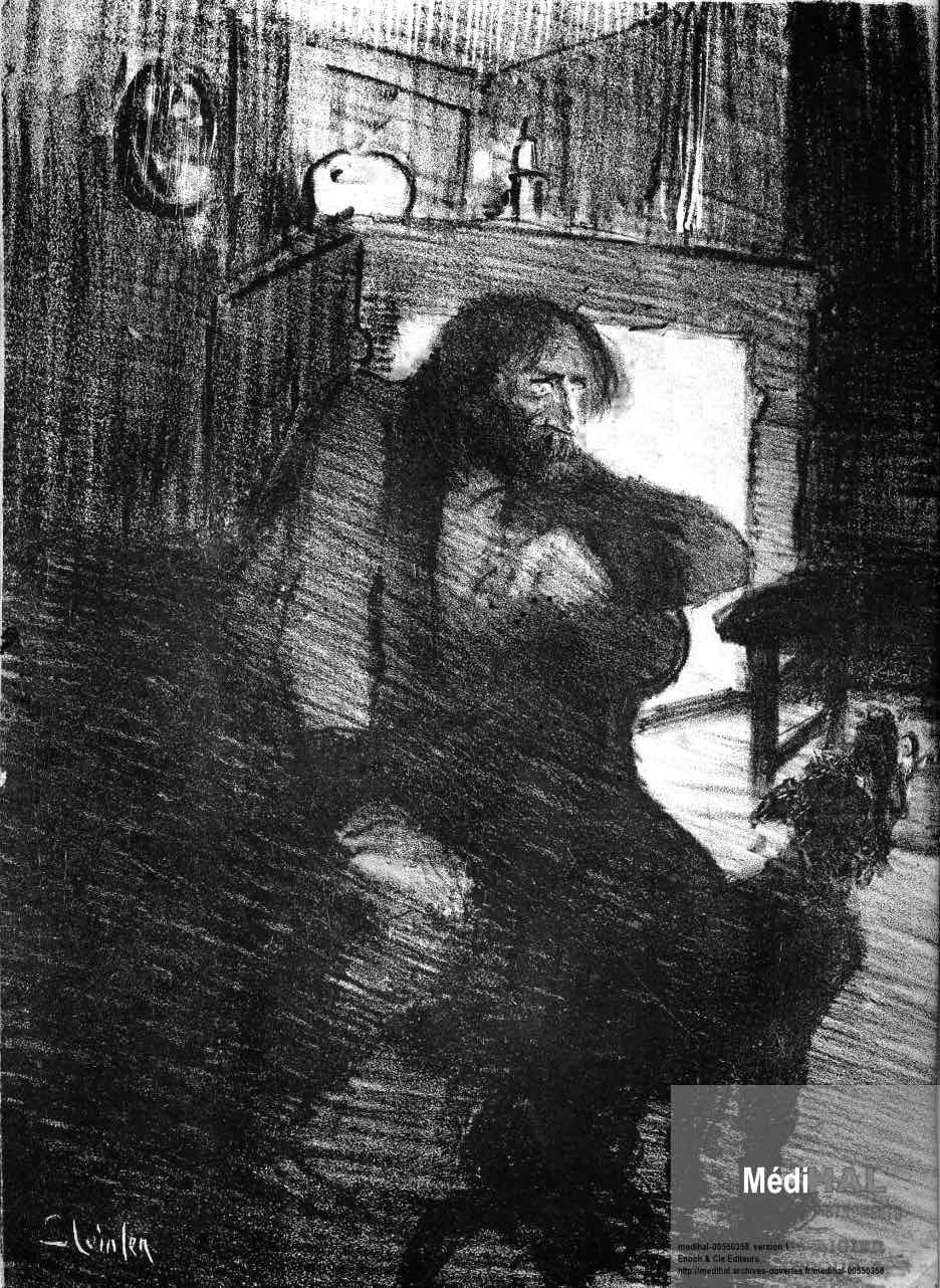 Theophile Steinlen, a troubled man and his dog