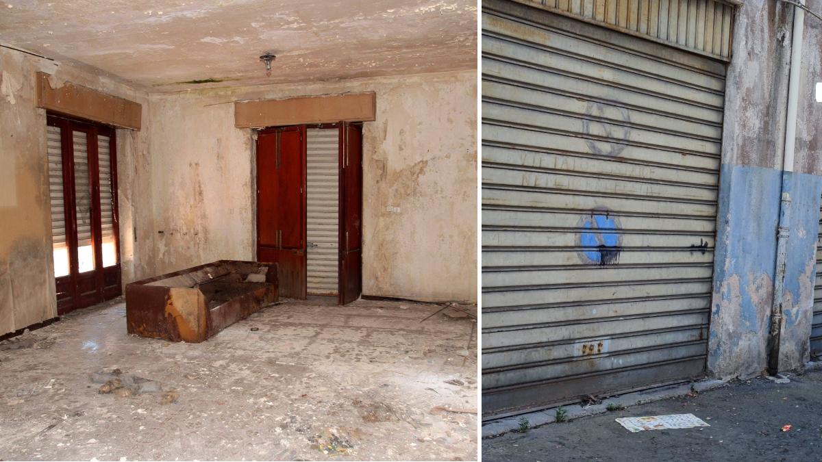 Villa comunale abbandonata Cibali