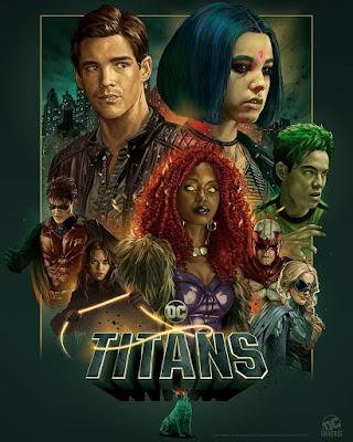 San Diego Comic-Con 2019 Exclusive Titans Season 2 Poster by Ruiz Burgos x DC Universe