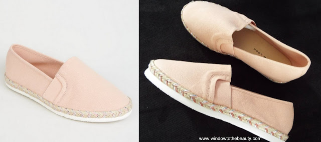 new look  Wide Fit Pink Canvas Metallic Sole Espadrilles