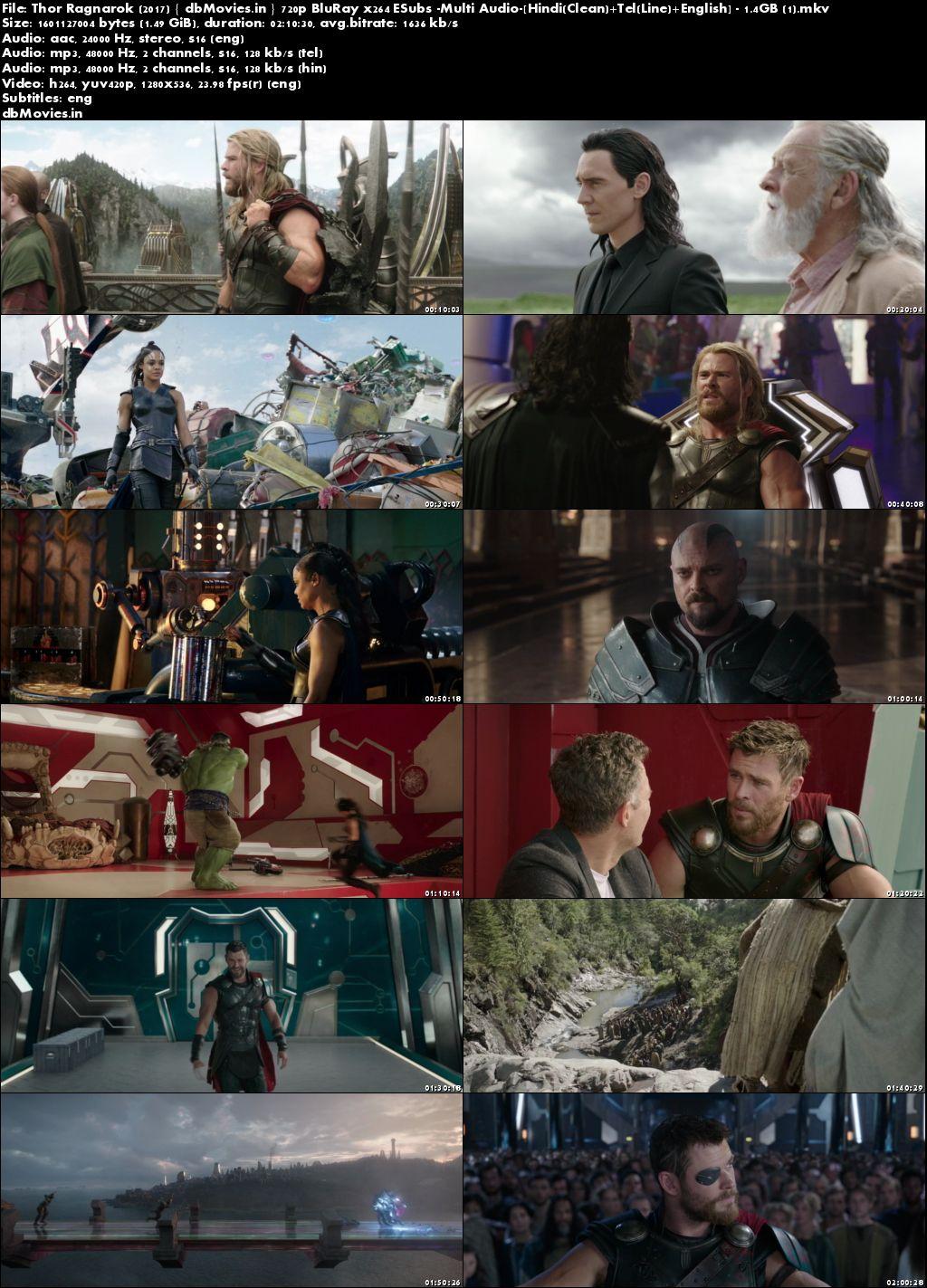 Screen Shots Thor Ragnarok 2017 Dual Audio Movie Download Hindi Dubbed 720p