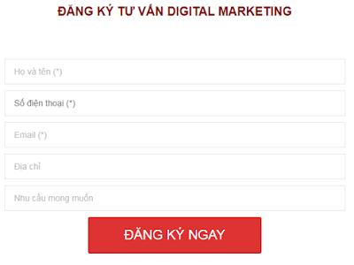 Đăng ký ngay để nhận được tư vấn về khóa học Digital Marketing miễn phí