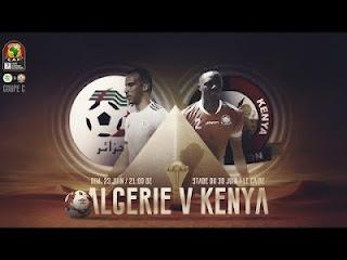 مباراة الجزائر وكينيا اليوم في بطولة كأس الأمم الأفريقية 2019