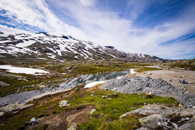 Laghetti verso il monte Dalsnibba
