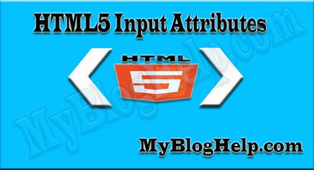 html5 input attributes