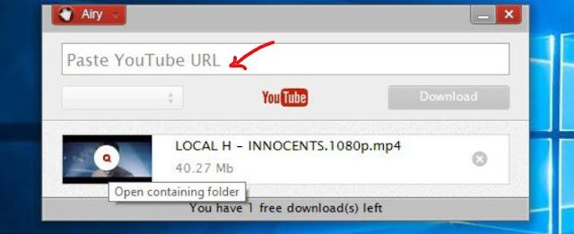 paste youtube URL