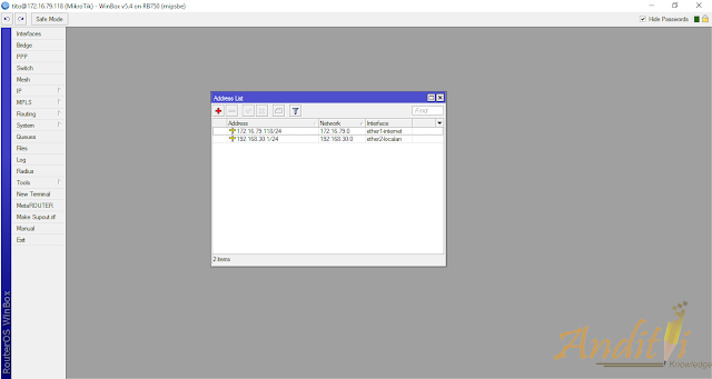 Cara Setting Mikrotik Sebagai Router Gateway Internet Menggunakan IP Static-anditii.web.id