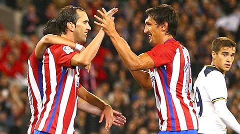 Godin và Savic đang là cặp trung vệ hiệu quả nhất La Liga