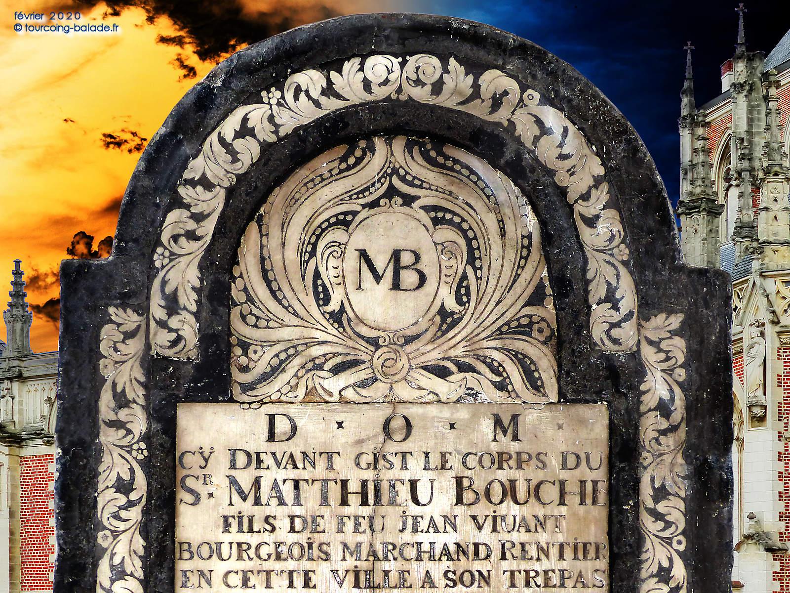 Stèle Matthieu Bouche, église St Christophe, Tourcoing