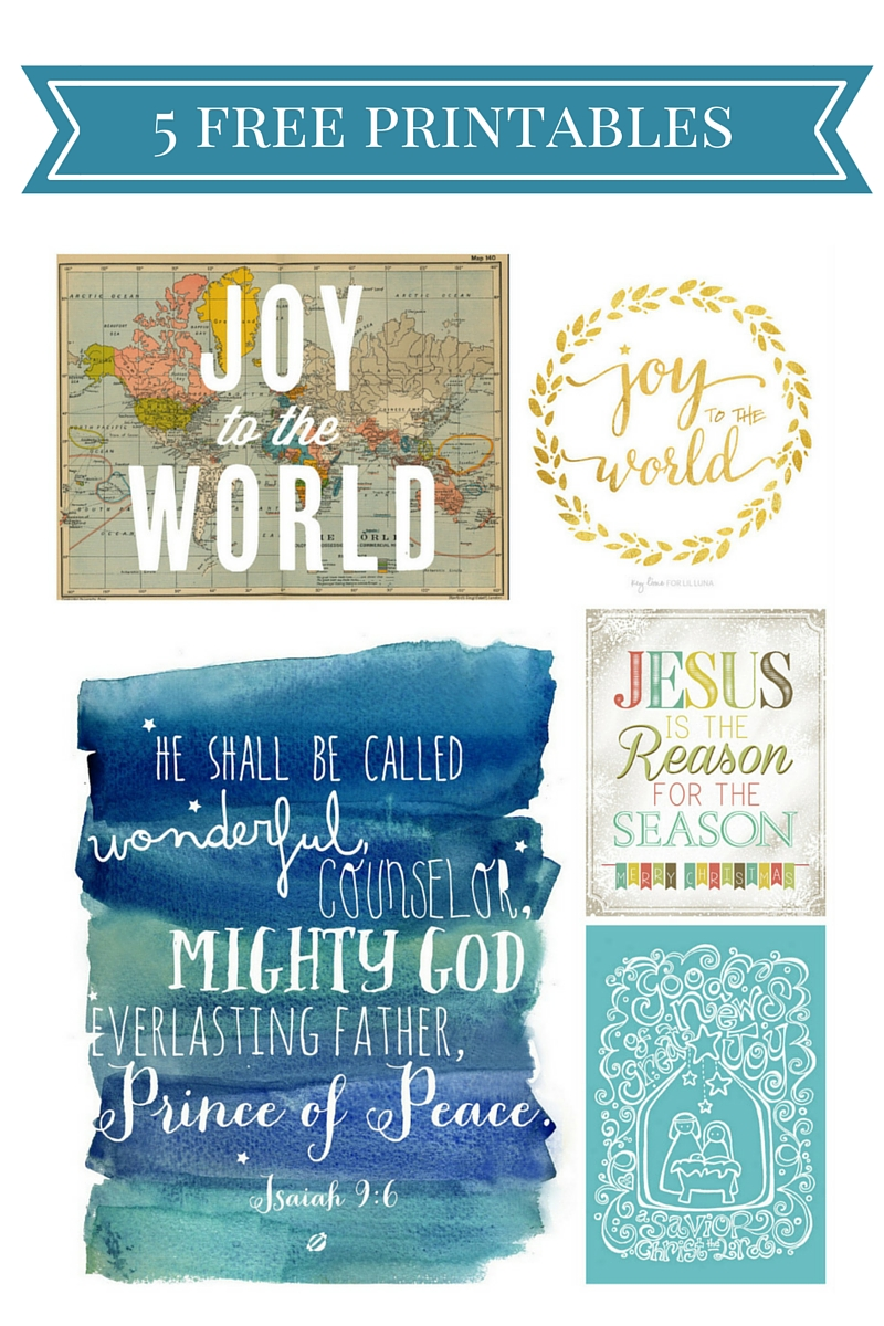 5 Free Printables for Christmas Home Decor that will help make your living spaces merry and bright for the holidays!