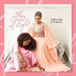 The Spirit Of Light, Tope Alabi, Ty Bello, Tracklist  1. TY Bello & Tope Alabi – We Have Come  2. TY Bello & Tope Alabi – Emimimo  3. TY Bello & Tope Alabi – Olowo Ina  4. TY Bello & Tope Alabi – Imolede [Download]   5. TY Bello & Tope Alabi – Oba Mi De  6. TY Bello & Tope Alabi – War  7. TY Bello & Tope Alabi – Awa Gbe Oga  8. TY Bello & Tope Alabi – Iwo Lawa O Ma Bo  9. TY Bello & Tope Alabi – Ka Bi O Osi  10. TY Bello & Tope Alabi – No One Else  11. TY Bello & Tope Alabi – Ayo  12. TY Bello & Tope Alabi – Alayo  13. TY Bello & Tope Alabi – Logan Ti O De [Download]  14. TY Bello & Tope Alabi – Adonai  15. TY Bello & Tope Alabi – Eruretoba  16. TY Bello & Tope Alabi – All The Glory  17. TY Bello & Tope Alabi – Angeli