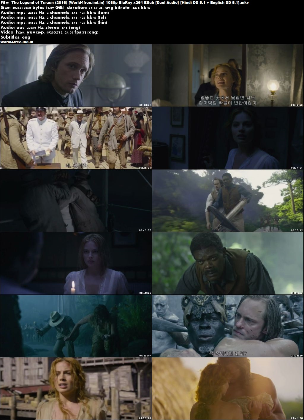 The Legend of Tarzan 2016 world4free.ind.in Dual Audio BRRip 720p Download