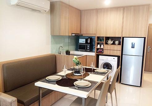 Hanson Court Suites Type C Dining Kitchen