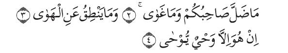 Q.S an-Najm/53: 2-4