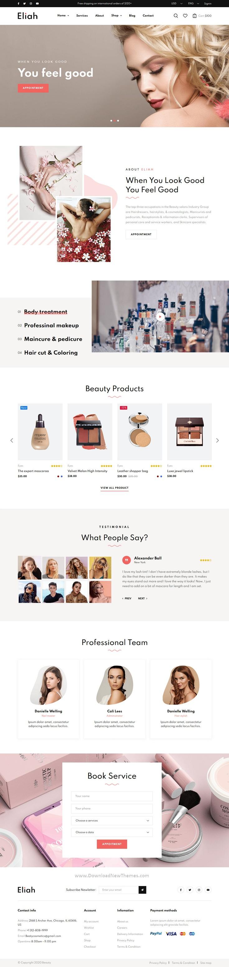 Beauty Salon & Cosmetic eCommerce Template