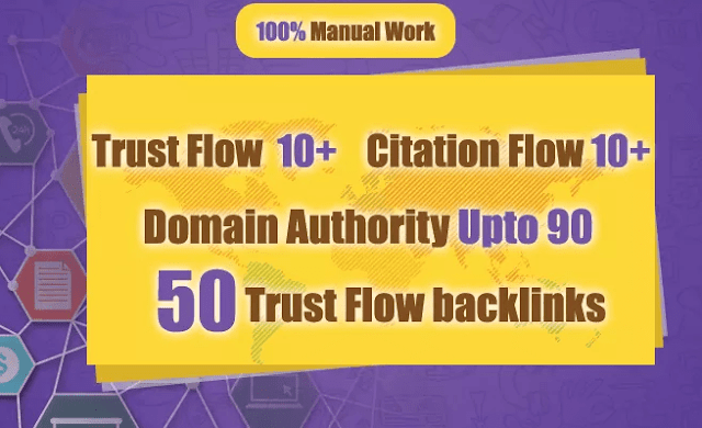 High Authority Dofollow Trust Flow Backlinks Provider