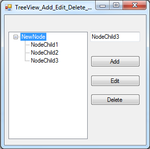 insert update delete treeview node using c#