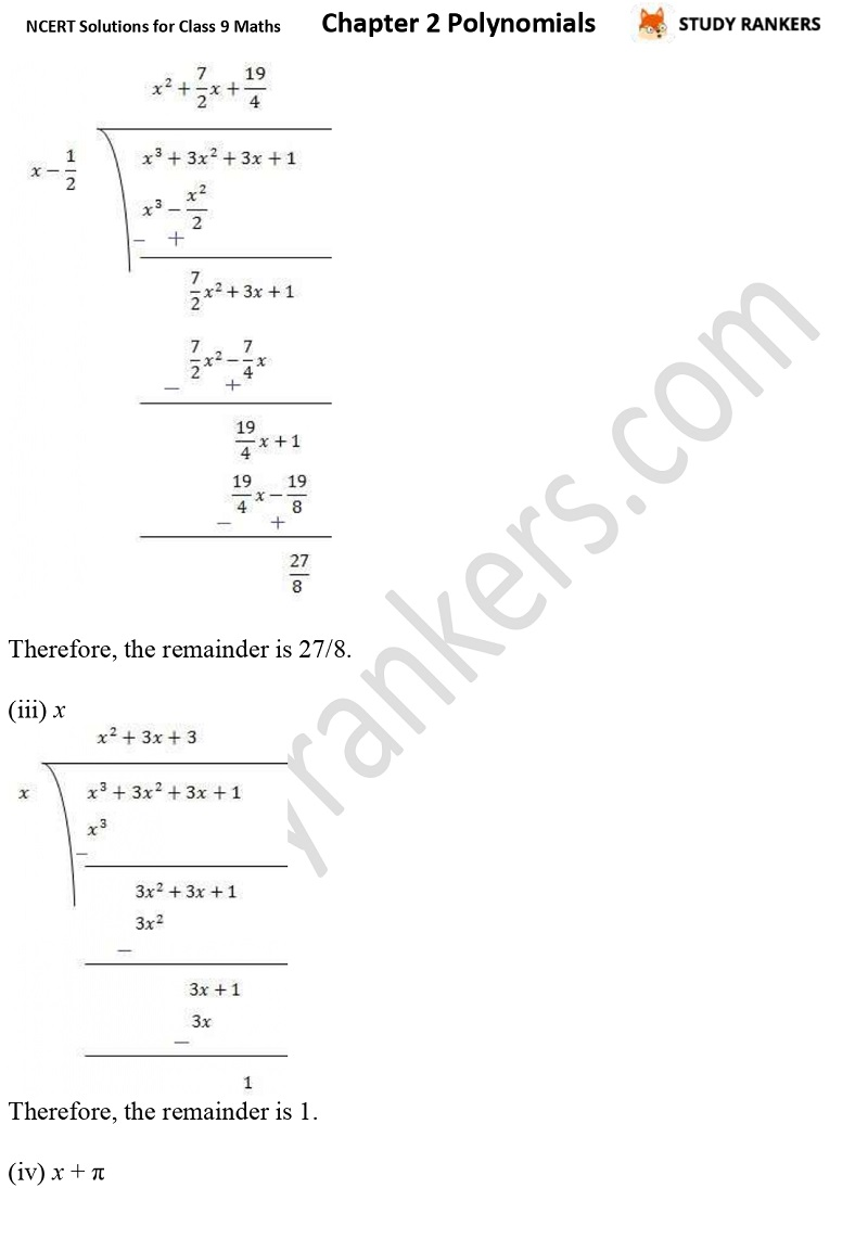 NCERT Solutions for Class 9 Maths Chapter 2 Polynomials Part 9