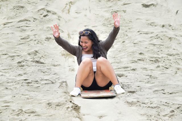 Feeling like a winner in sand dunes of Ilocos Norte