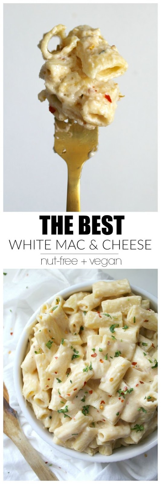Creamy and comforting - this is hands down the Best Vegan White Mac and Cheese! This only takes 20 minutes to put together and is a crowd pleaser!