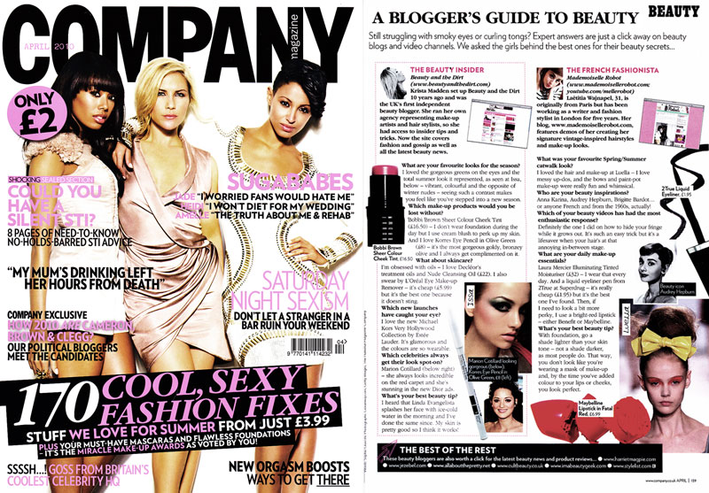 Company - April 2010 - Blogger's Guide To Beauty