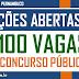 CONCURSO PÚBLICO, 100 VAGAS PARA NÍVEIS FUNDAMENTAL, MÉDIO E SUPERIOR