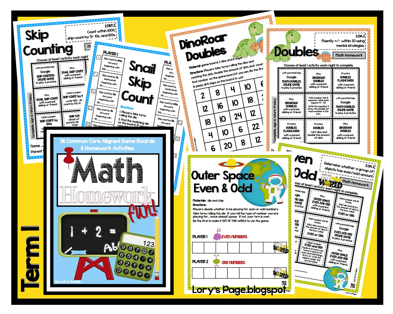 Lory S 2nd Grade Skills Math Homework For The Whole Year