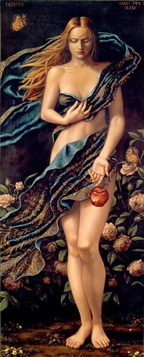 Eva - Lauri Blank e suas pinturas cheias de emoções