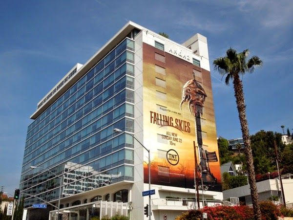 Giant Falling Skies season 4 billboard Sunset Strip