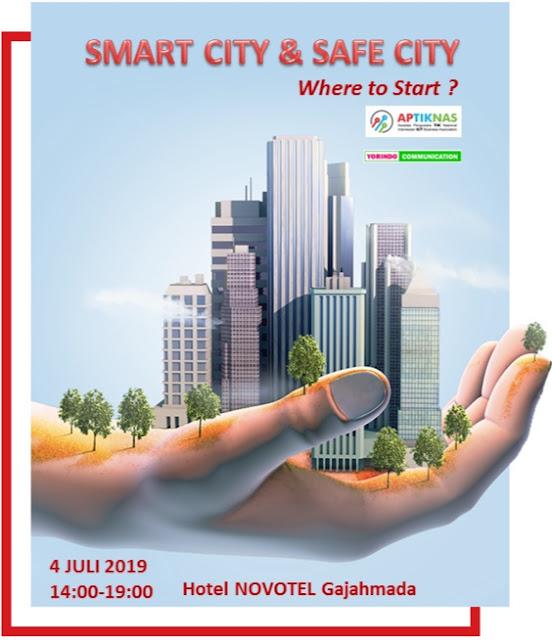 Kami akan hadir di Seminar SMART and SAFE CITY - APTIKNAS Solutions Day 4 Juli 2019