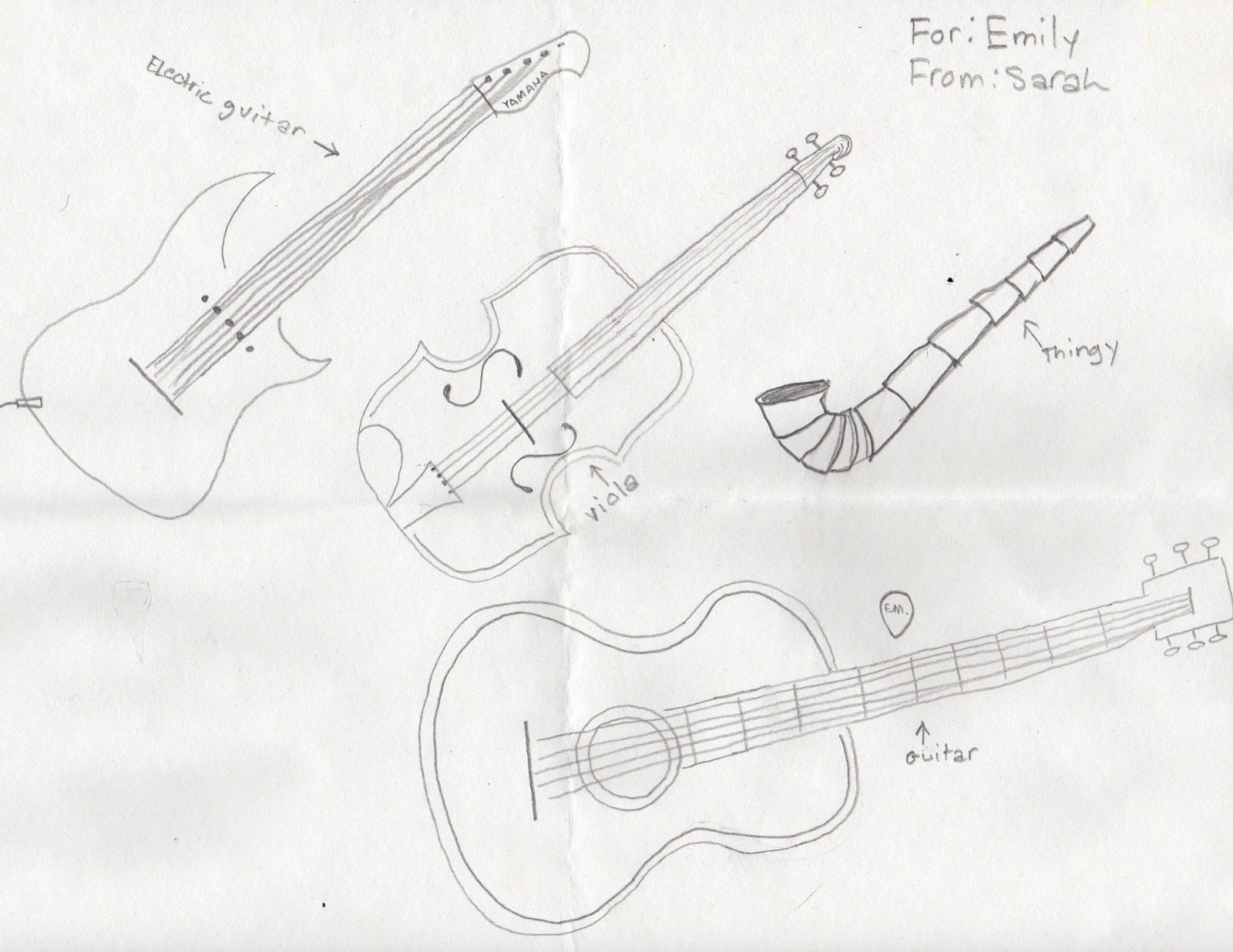 it es every month more artwork by sarah Folk Electric Guitar we ll call this thingy with string instruments
