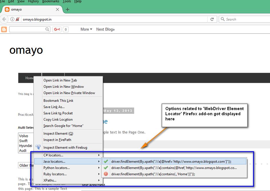 Selenium-By-Arun: WebDriver Element Locator Firefox add-on