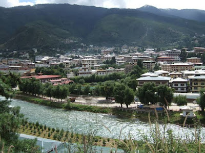 Thimphu Hilly River