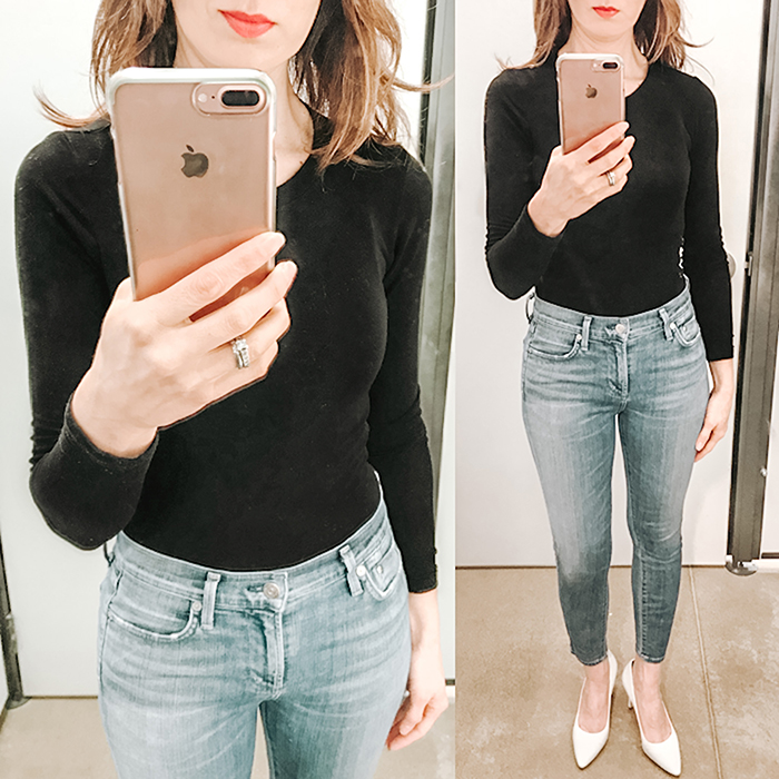 nordstrom, black layering tee, skinny jeans, style blogger