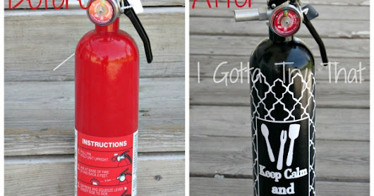 DIY Fire Extinguisher Fun Make Over