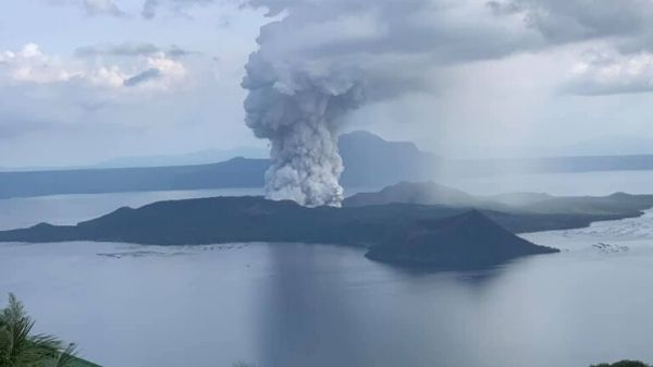 Taal Volcano at Alert Level 2 status
