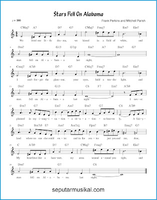 Stars Fell on Alabama chords jazz standar