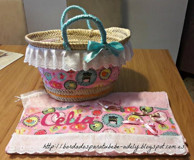 cesta infantil playero personalizado