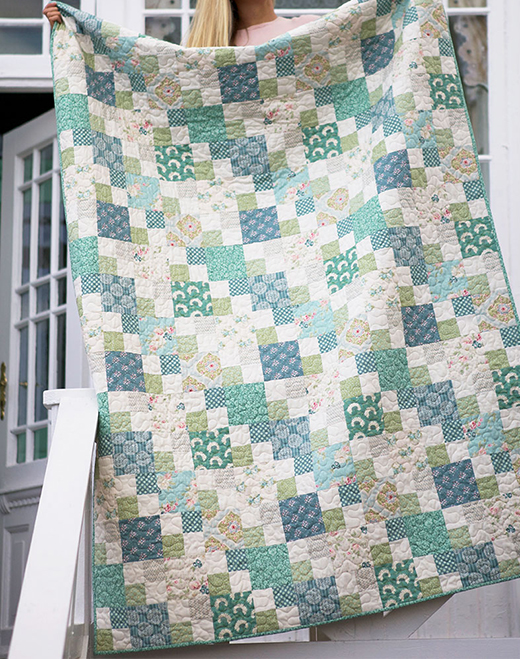 Spring Lake Quilt Free Pattern Designed by Tilda's World