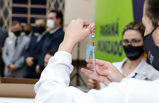 Vacinação contra Covid-19 para os idosos acima de 90 anos em Roncador começa amanhã