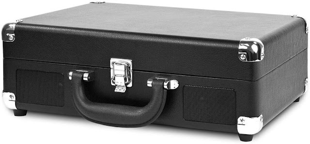 Victrola Vintage 3-Speed Bluetooth Portable Suitcase Record Player with Speakers
