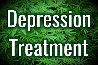 Depression Treatment with Marijuana leaves