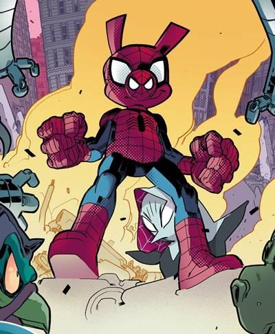 Versión alternativa de Spiderman de un mundo de animales